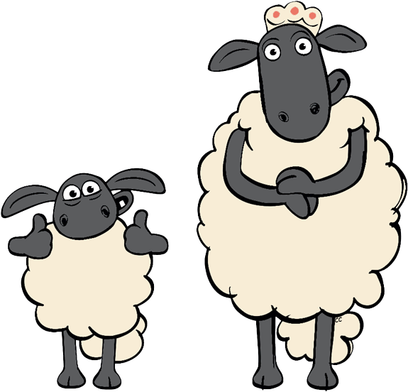 Sheep Cartoon Clipart Clip Art - Shaun The Sheep Timmy's Mum (581x558)