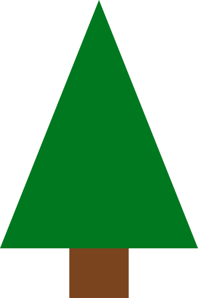 Triangle tree. Christmas clipart x png