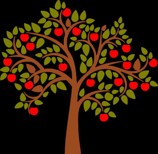 Apple Clip Art - Apple Tree Clipart (600x586)