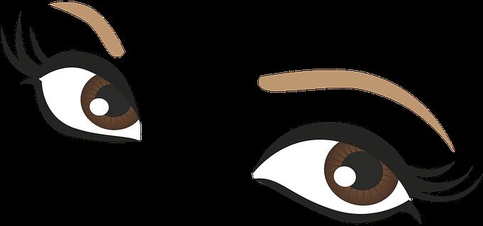 Brown Eyes Clipart Lash Clipart - Cute Eyes Cartoon (680x340)