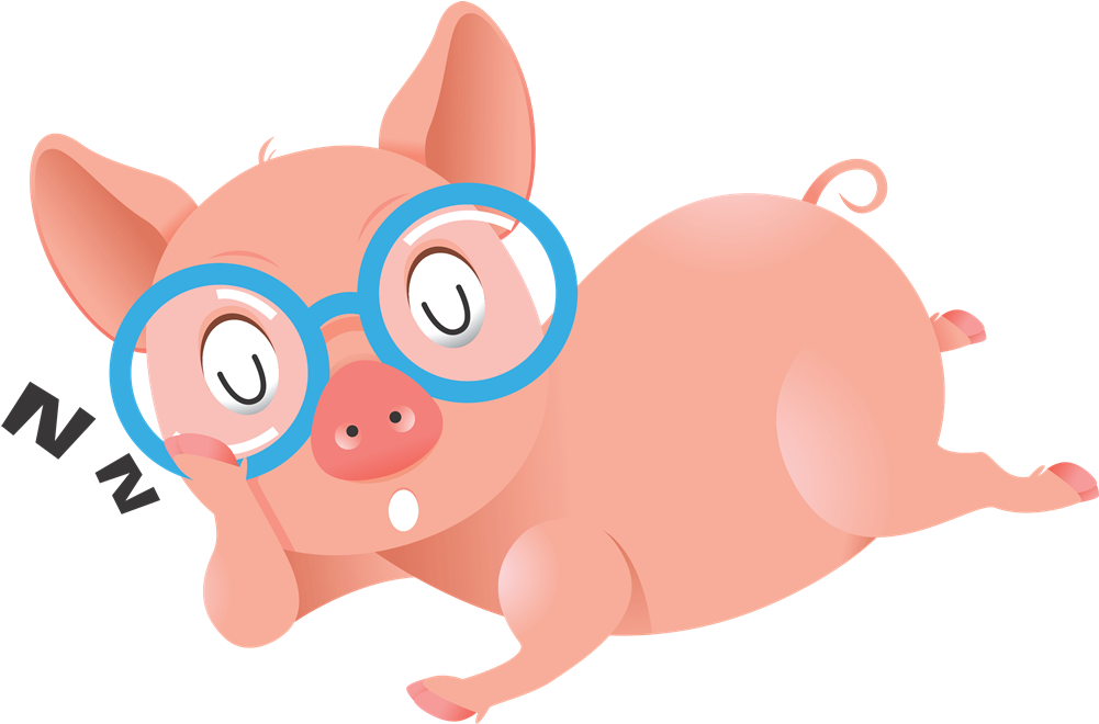Pig Animated Clipart - Pig With Eye Glasses (1001x660)