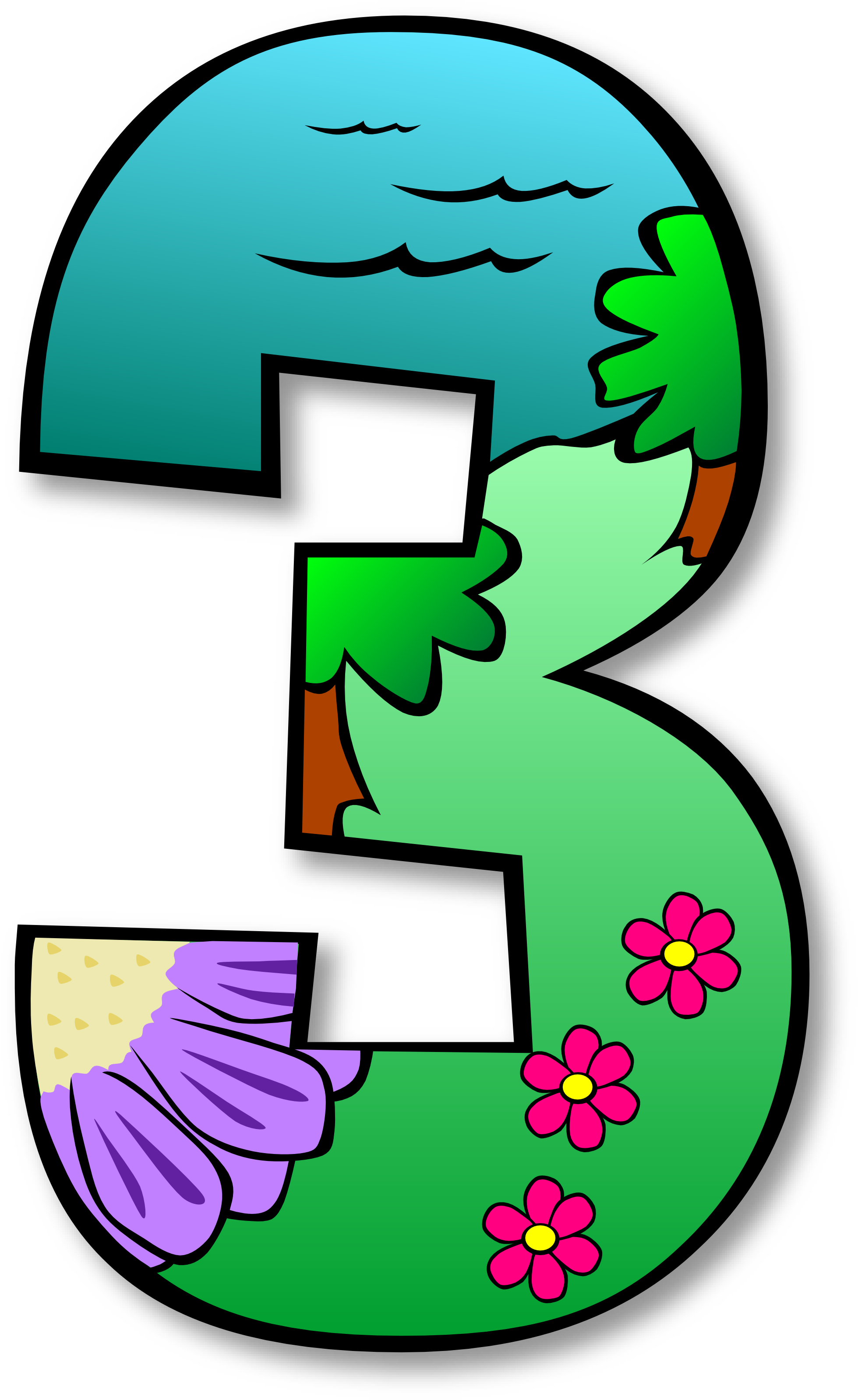 Number 1 Clipart (1979x3218)