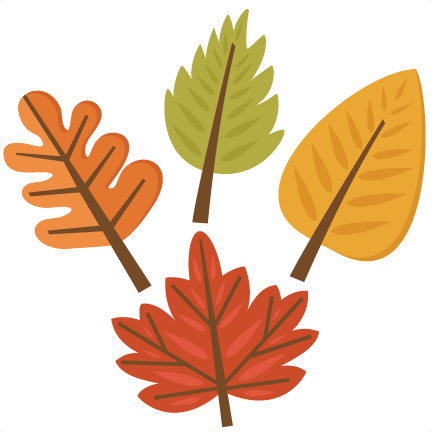 Fall Leaf Set Svg Cutting S For Scrapbooking Svg - Cute Fall Leaves Clipart (432x432)