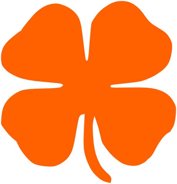 Orange Clover Clip Art (576x597)