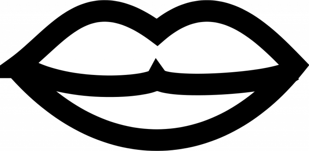 Lips Black And White Cartoon Lips Clipart Free Download - Lips Black And White (1023x500)