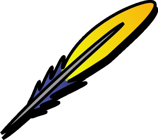 Feather Clip Art At Clker Com Vector Clip Art Online - Feather Clip Art (600x531)
