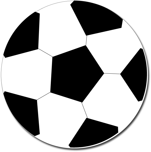 Military Vehicle Clipart - Easy Soccer Ball Clipart (696x673)