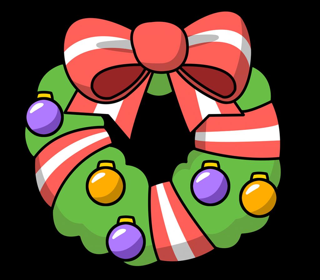 Christmas Christmas Wreath Clip Art Clipart Garland Cartoon
