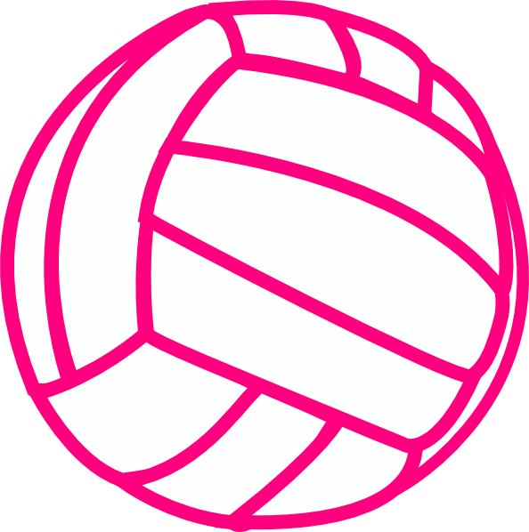 Volleyball Clip Art - Love Volleyball Svg (594x598)
