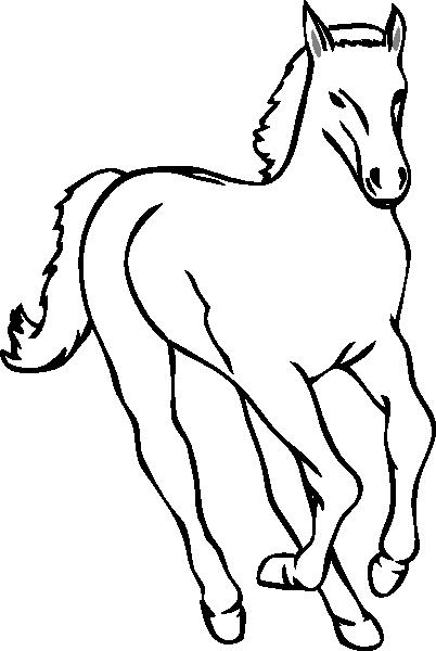 Caballos Para Colorear (402x600)