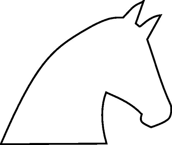 Horse Outline No Fill Clip Art - Horse Head String Art Patterns (600x503)