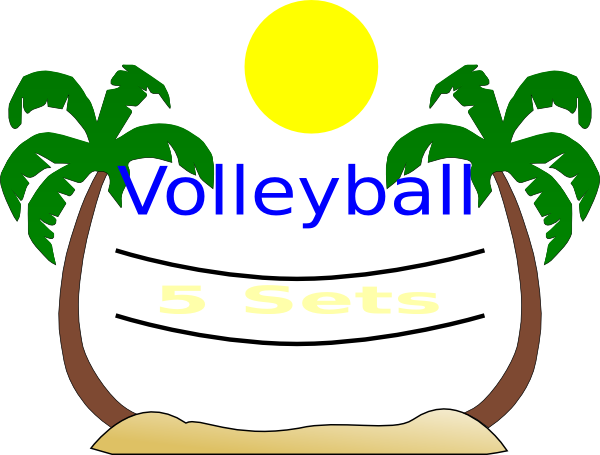 Volleyball Clipart - Balloon Volleyball Clip Art (600x455)