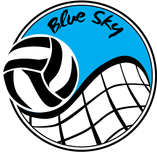Volleyball Logos - Blue Sky Volleyball (360x360)