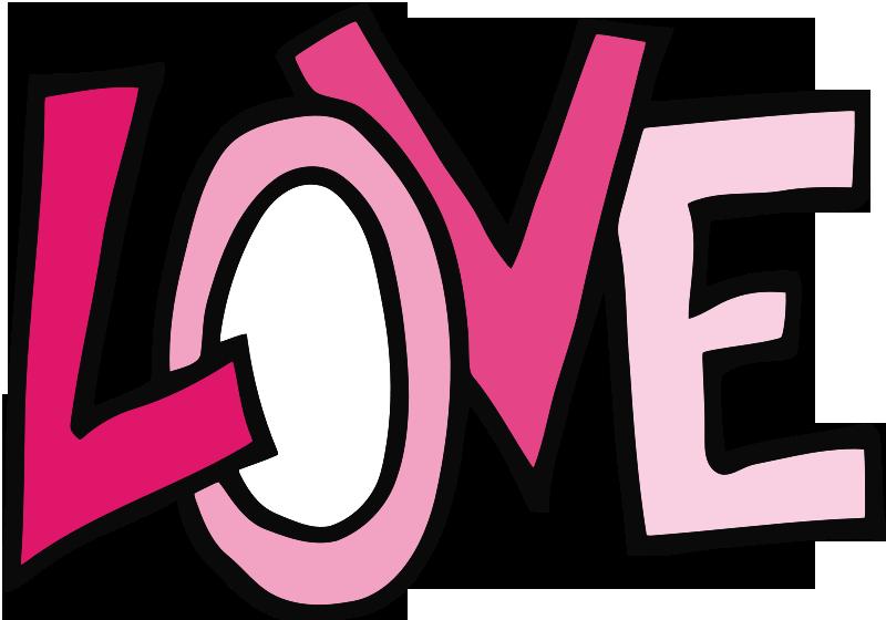 Word Clipart - Word Love Clip Art (800x560)