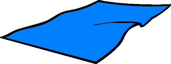 Summer Clipart Beach Towel - Blue Towel Clipart (600x224)