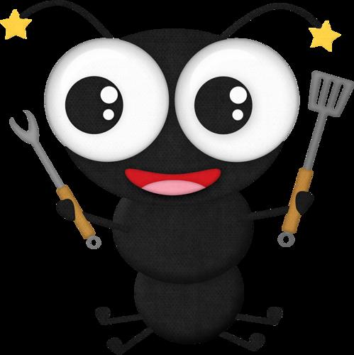 Black Ant 3 - Ant Picnic Clip Art (499x500)