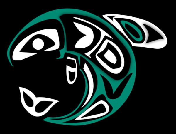 Native Salmon Clipart - Native American Salmon Symbol (600x456)