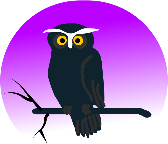 Owl Clipart - Halloween Owl Shower Curtain (700x665)