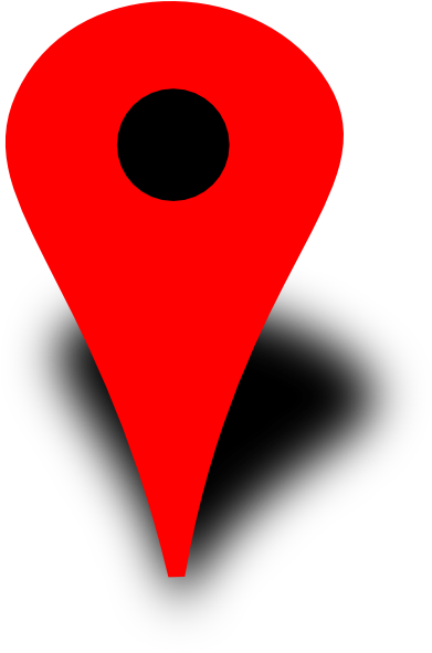 Red Map Pin With Black Dot Clip Art - Google Maps Red Dot (390x599)