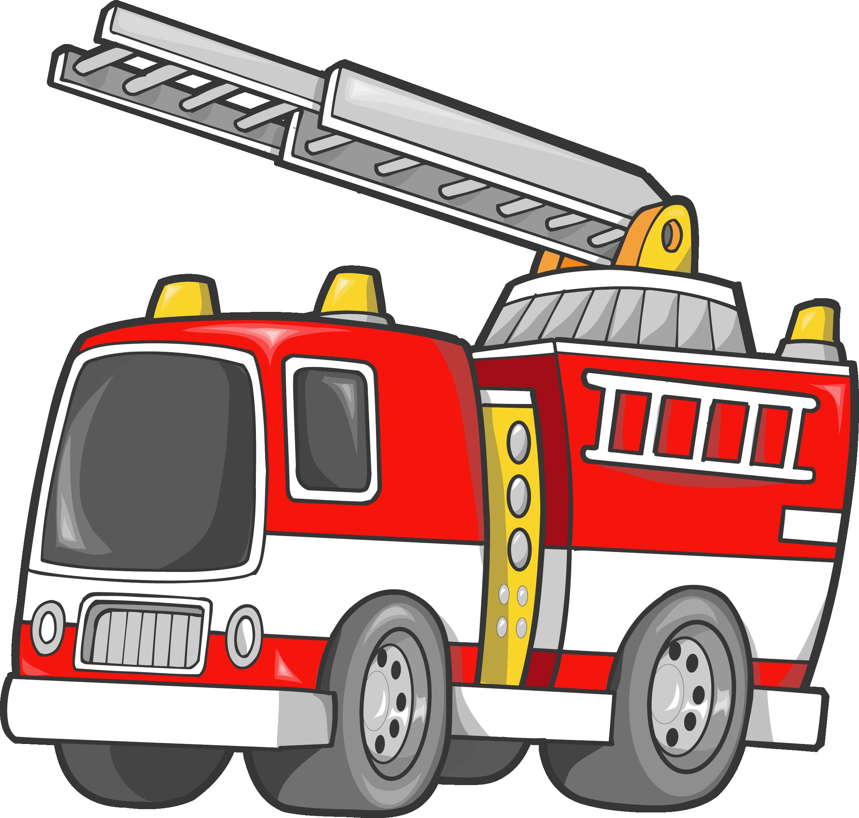 Car Fire Engine Firefighter Truck Clip Art - Fire Truck Clip Art (2326x2211)