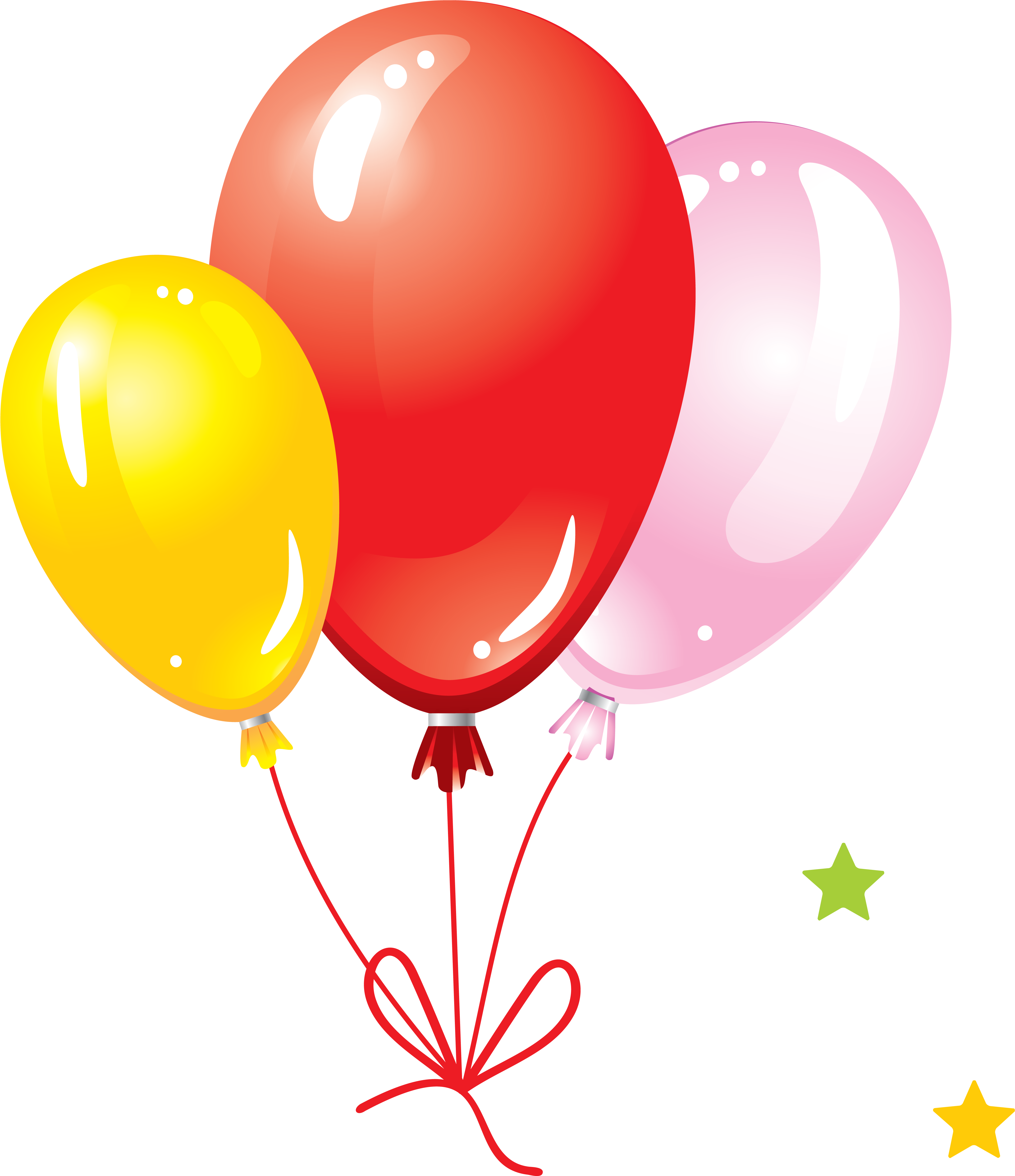 Balloon Png Image, Free Download, Balloons - Birthday With Balloons And Cake (4369x4972)