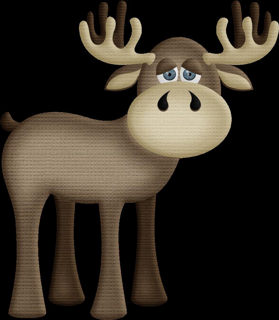Aw Woodland Moose 2 - Woodland Animal Clip Art (896x1024)