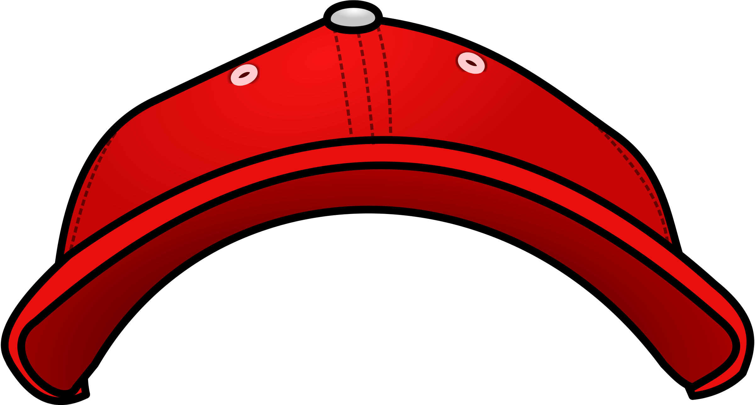 Pictures Of Baseball Caps - Baseball Cap Front View (2400x1287)