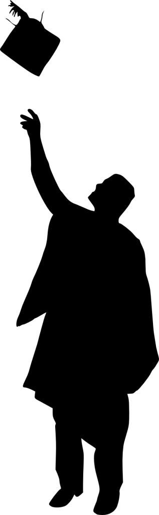Graduate Silhouette Clip Art - Graduation Silhouette (317x1024)
