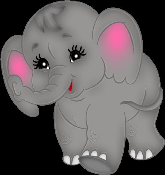 Baby Elephant Clipart - Cute Baby Elephants Clipart (600x600)