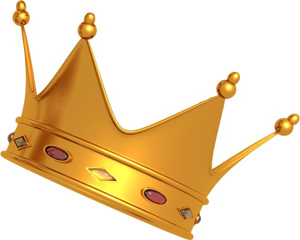 Gold Princess Crown Clipart Transparent Background - Crown Png (600x481)