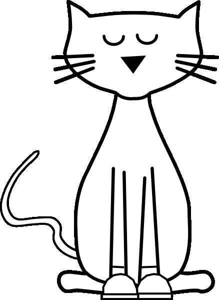 Outline Of A Cartoon Cat (438x599)