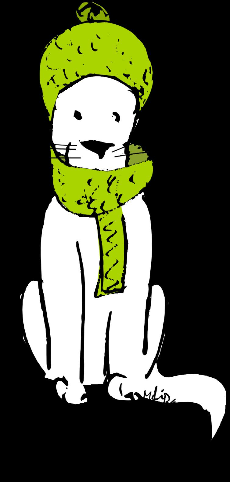 Winter Cat Clipart - Winter Cat Clipart (784x1600)