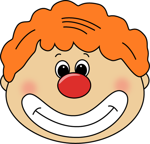 Clown Face - Clown Red Nose Clipart (850x813)