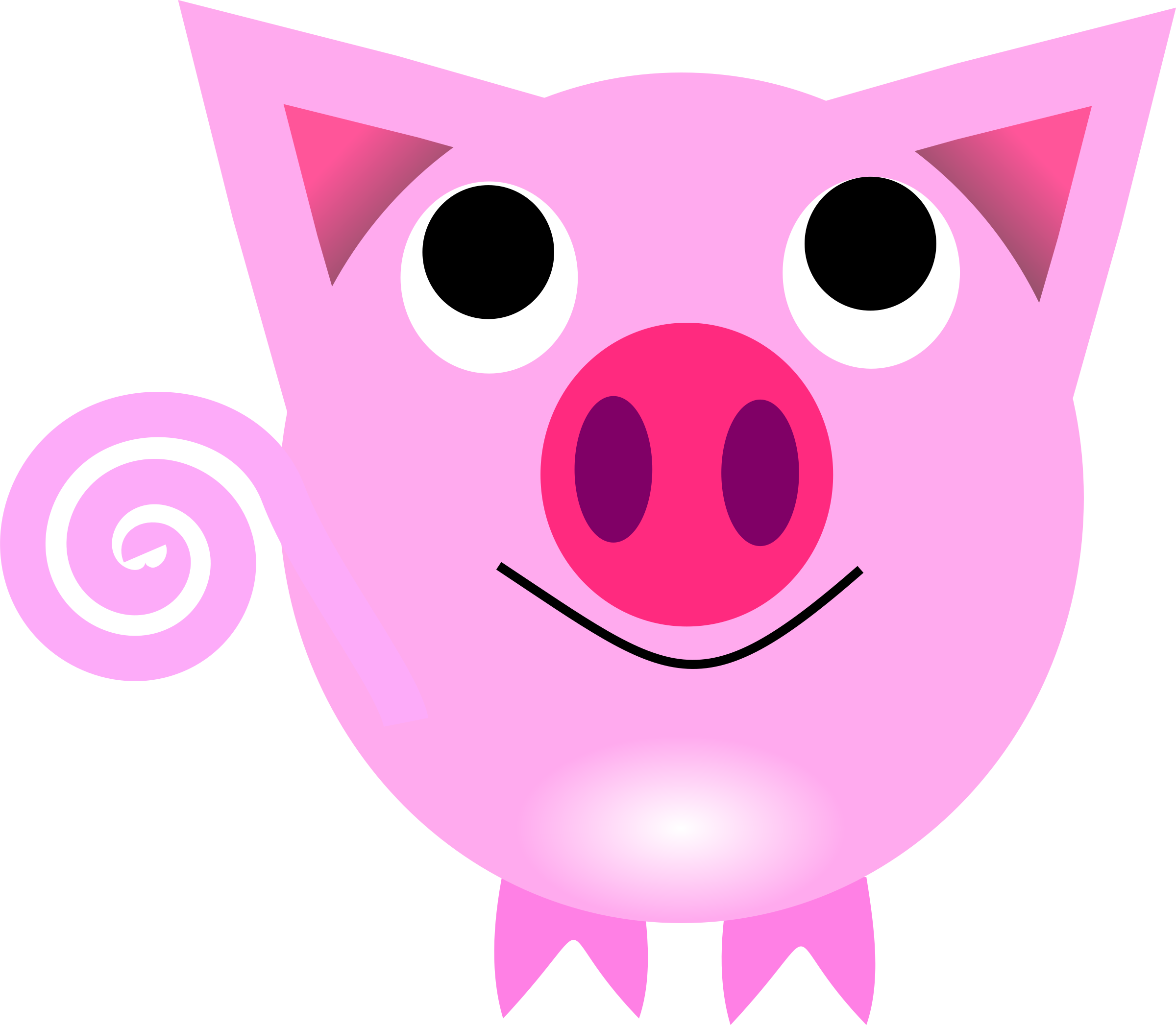 File Pig Clipart Svg Commons - Chinese New Year Pig (2400x2093)