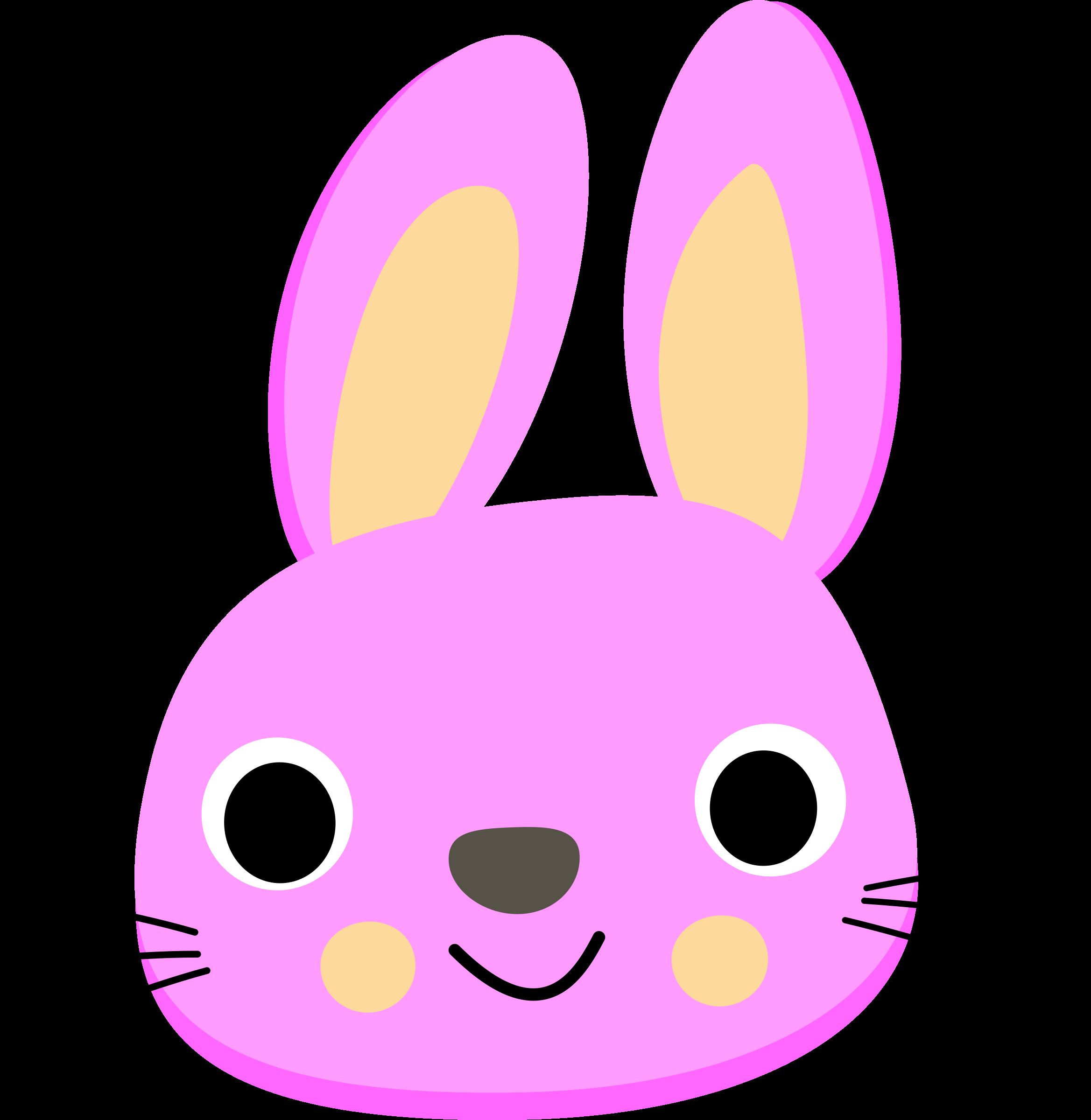 Clipart Lapin - Rabbit Face Clip Art (2337x2400)