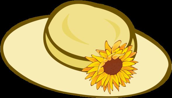 Straw Hat Cliparts Free Download Clip Art On Flower - Garden Hat Clip Art (639x380)