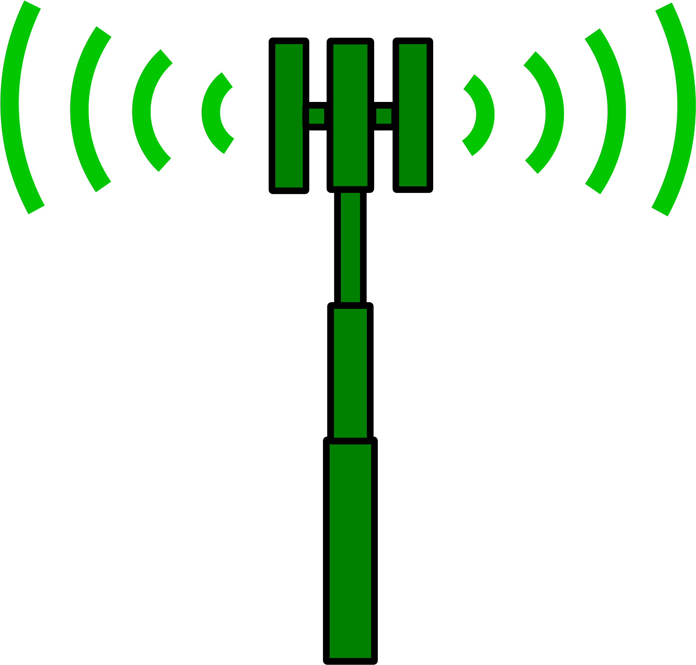 Site Transmitter - Cell Phone Tower Clip Art (2400x2313)