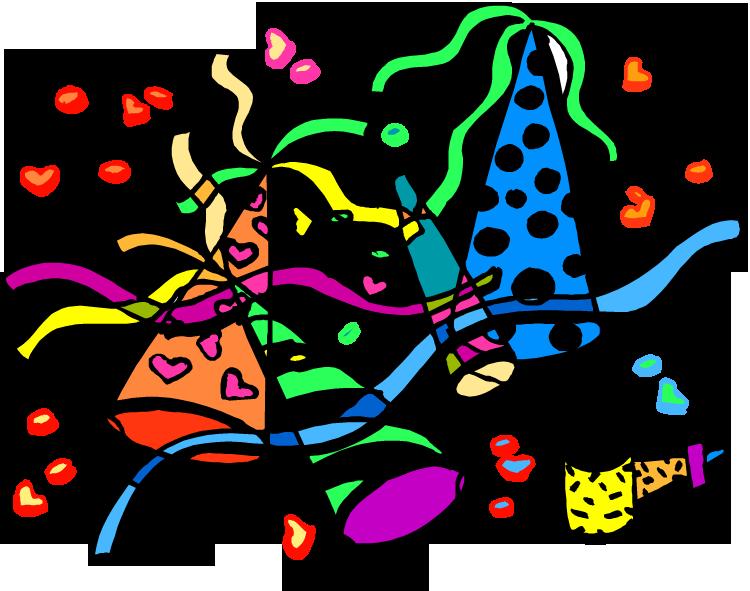 January Clipart Clipartfox - Party Cartoon (750x591)