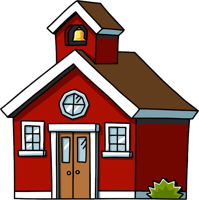School House Clip Art House The Cliparts - School House Cartoon Png (695x700)