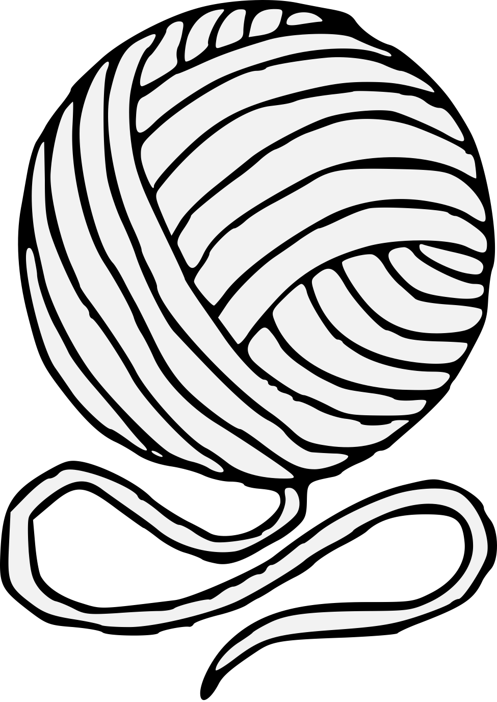 yarn coloring pages - HD920×1337