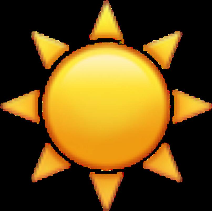 Sun Emoji Emojis Emojisticker Sunrise Sunset Sunny - Sun And