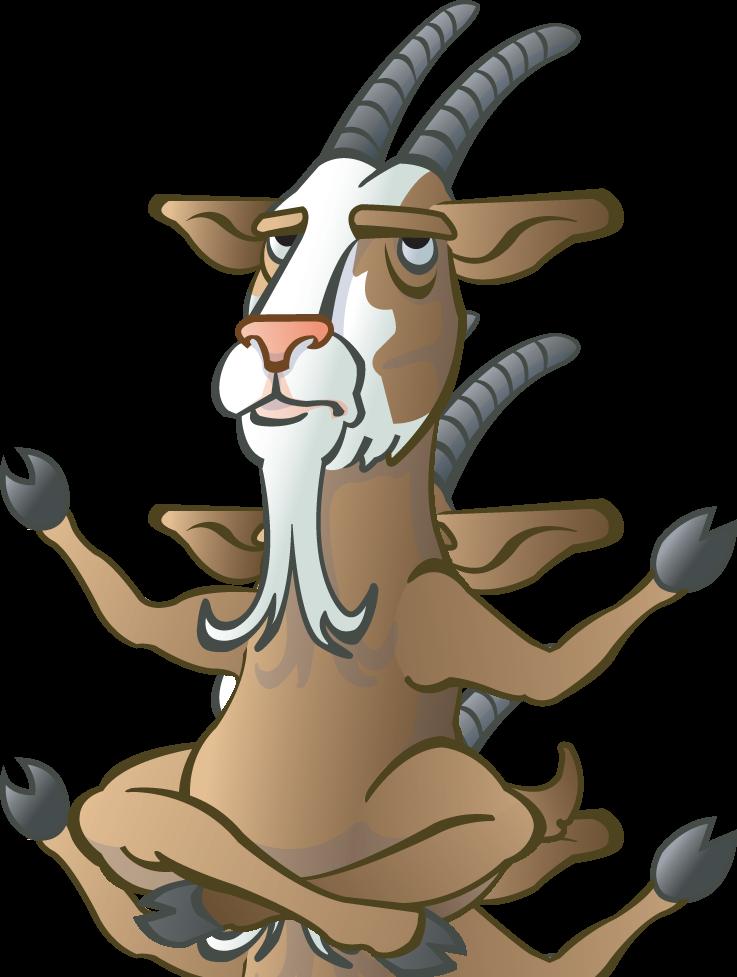 Машиной, прикольный рисунок козы