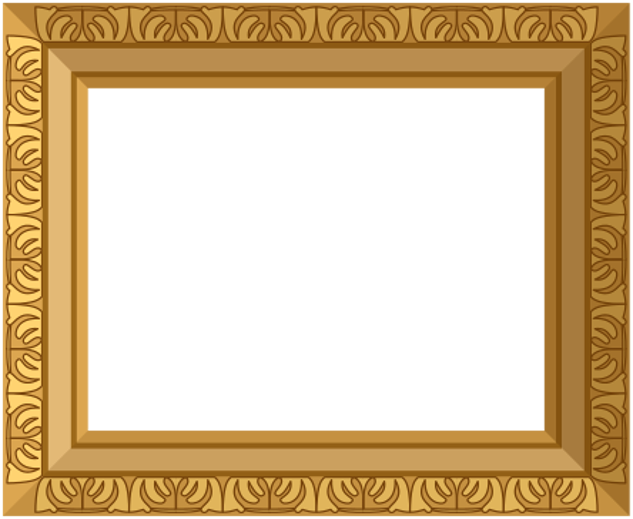 Ornate Gold Frame Border - Gold Frame (1280x1049)