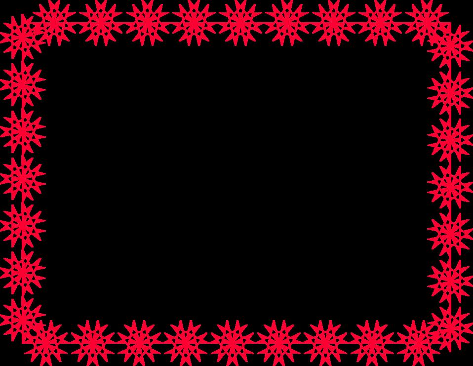 Christmas Border Clipart Landscape.Stamp Clipart Landscape Border Red Snowflake Page Border