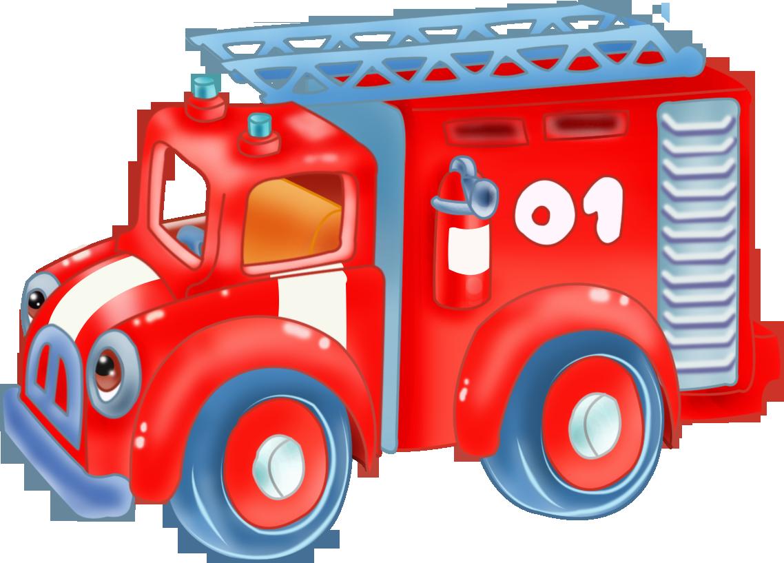 Детские картинки пожарная машина, смешные утро