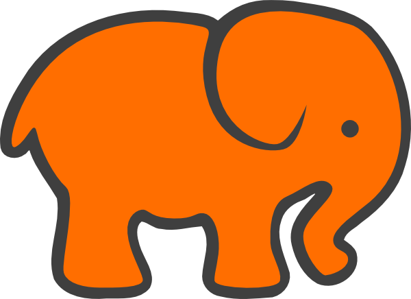 Orange And Grey Elephant (600x436)