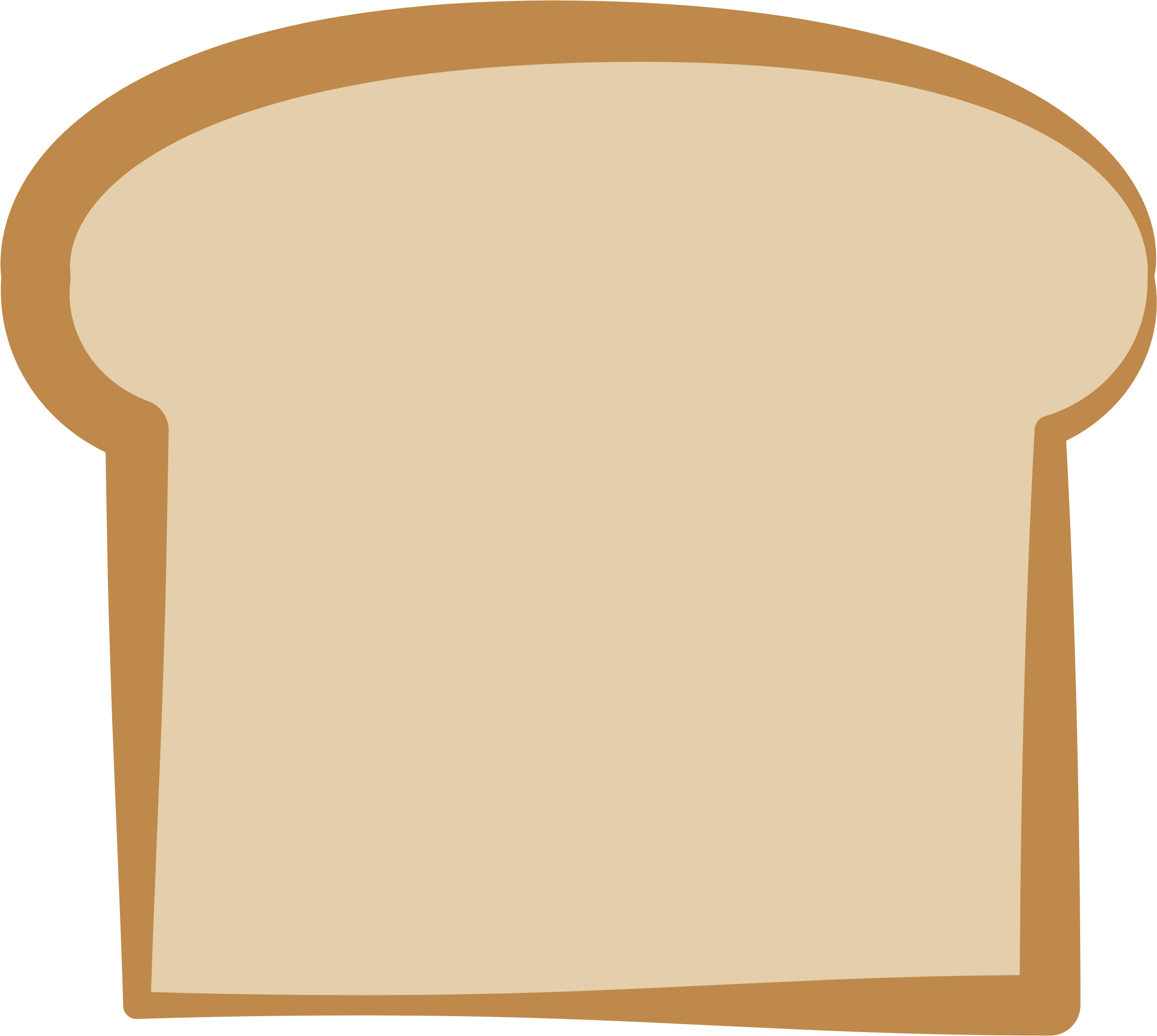 toast clipart slice bread - bread slice clip art - (2333x2090) png clipart  download  clipartmax