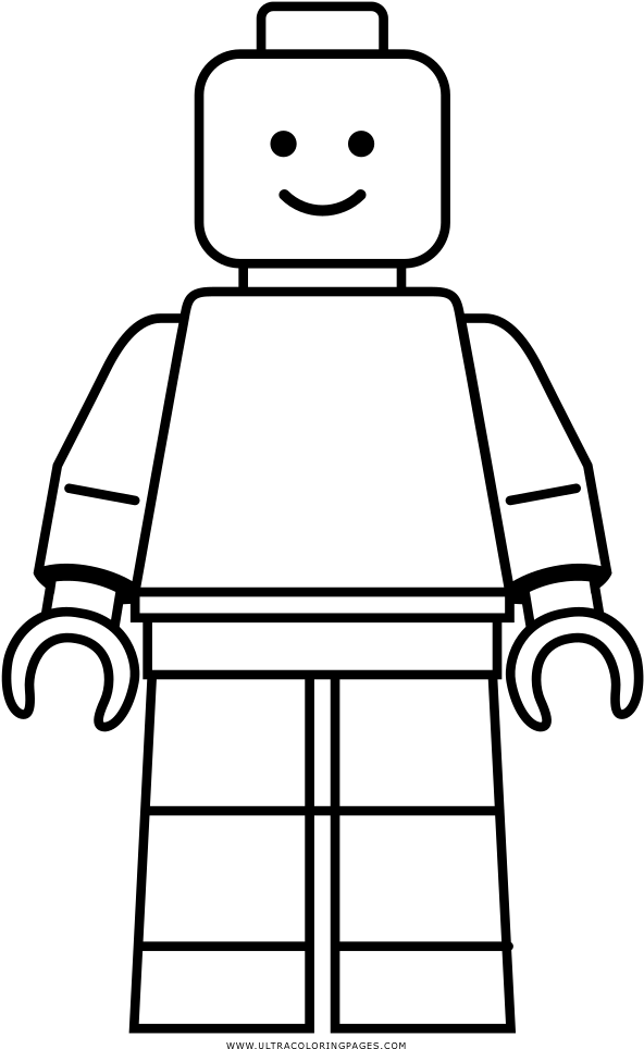 Лего человечки рисунок