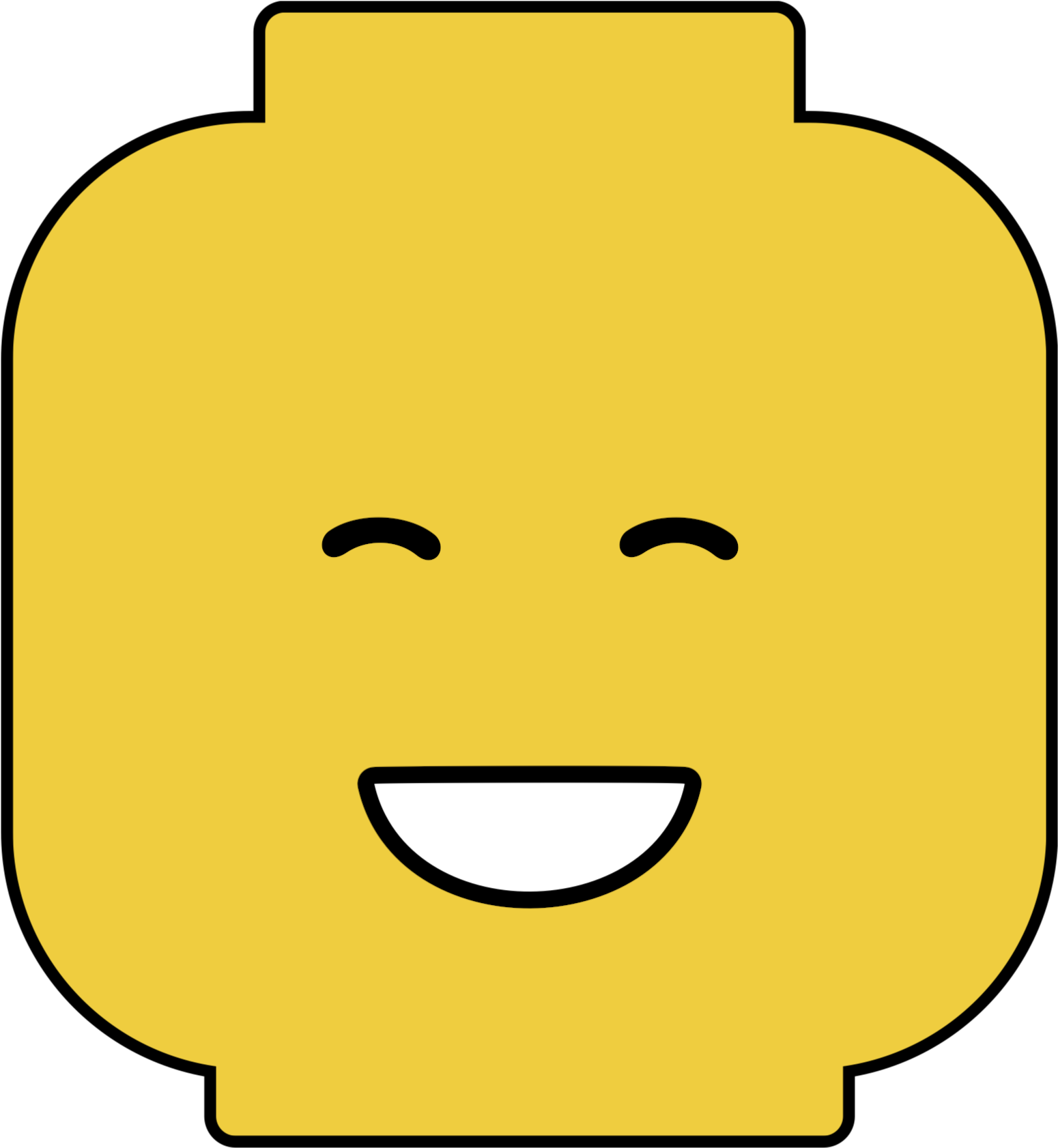 image about Lego Minifigure Printable titled Eyes Shut Lego Intellect Free of charge Printable - Lego Minifigures