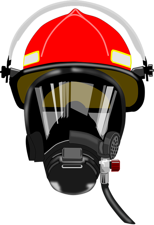 Breather, Defense, Firefighter, Fireman, Helmet - Firefighter Mask (881x1280)